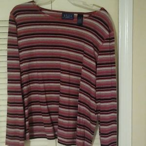 Tops - XL long sleeve striped multi colored tee